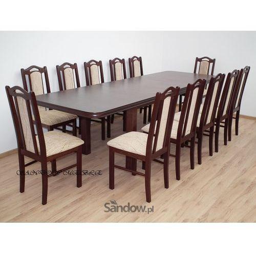 zestaw do jadalni rozkładany stół z 12 drewnianymi krzesłami różne kolory SPRAWDŹ z kategorii zestawy mebli kuchennych