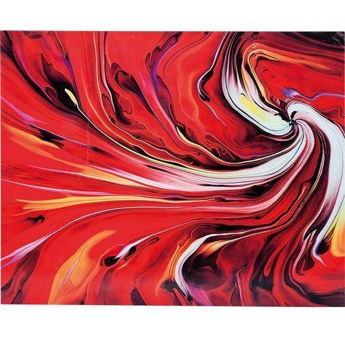 Kare Design Obraz Chaos Fire 150x120cm Szklane - 35591 (obraz)
