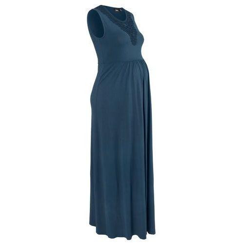 Bonprix Sukienka ciążowa shirtowa, długa ciemnoniebieski