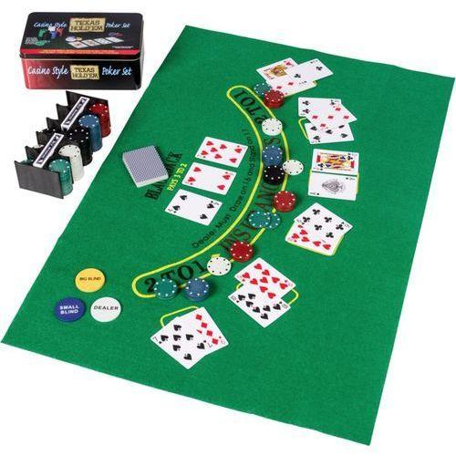 Makstor.pl Zestaw do gry w pokera żetony 200 szt karty mata (20030126)
