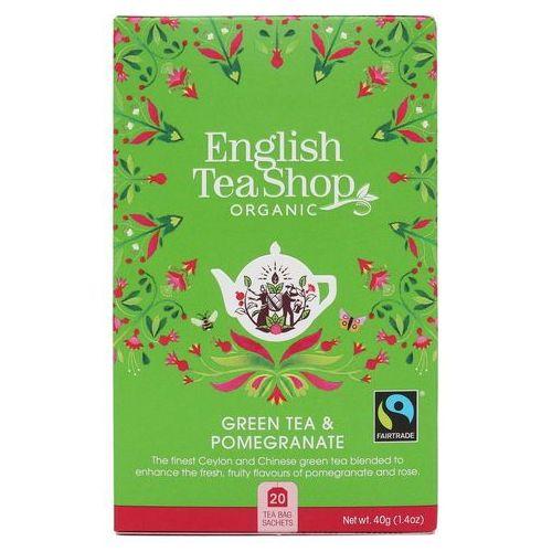 English tea sho Zielona herbata z granatem 20x2 g bio 40 g p