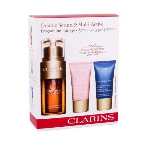 Clarins Double Serum Multi-Active Set zestaw 30 ml Serum do twarzy 30 ml + Krem na dzień 15 ml + Krem na noc 15 ml dla kobiet
