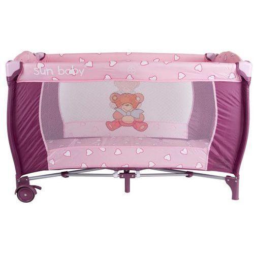 Sun Baby Łóżeczko turystyczne jednopoziomowe, różowe - oferta [2592d7a4bf332624]