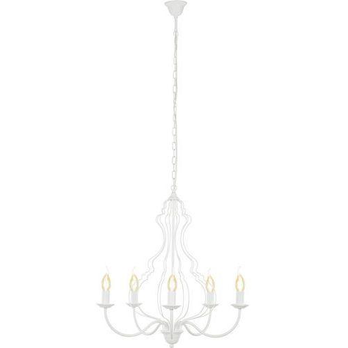 Lampa wisząca Nowodvorski Margaret 6330 zwis 5x60W E14 biała, kolor Biały