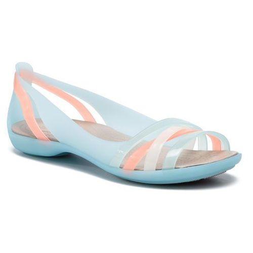 Crocs Sandały - isabella huarache 2 flat 2 204912 ice blue/platinum