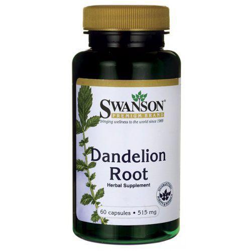 Korzeń mniszka lekarskiego dandelion 515mg mniszek lekarski 60 kapsułek SWANSON, towar z kategorii: Pozostałe zdrowie