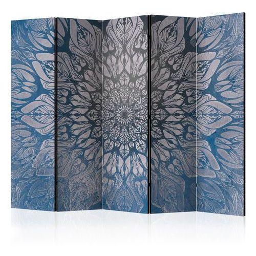 Artgeist Parawan 5-częściowy - pajęczyna (niebieski) ii [ room dividers]