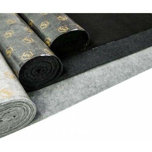 StP Dywan materiał wykładzina obiciowa czarna szara z klejem z rolki 100cm