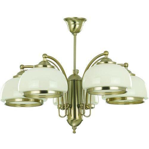 Alfa Lampa wisząca lord 10445 żyrandol oprawa 5x60w e27 patyna