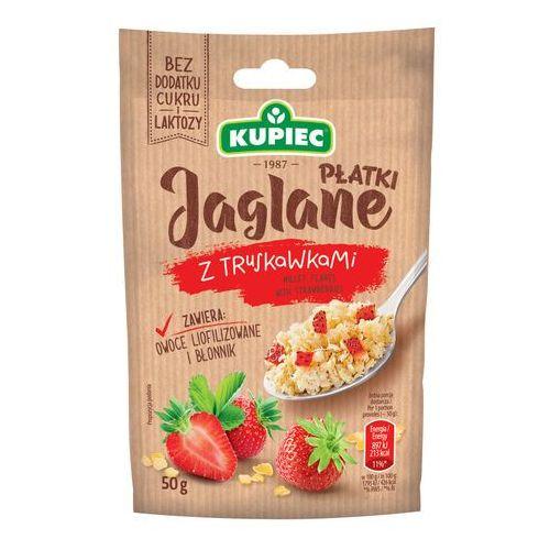 Kupiec Płatki jaglane z truskawkami (folia) 50g (bez dodatku cukru i laktozy)