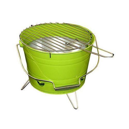 Grill ogrodowy wiaderko mini BBQ przenośny zielony - sprawdź w KokiskashopPL