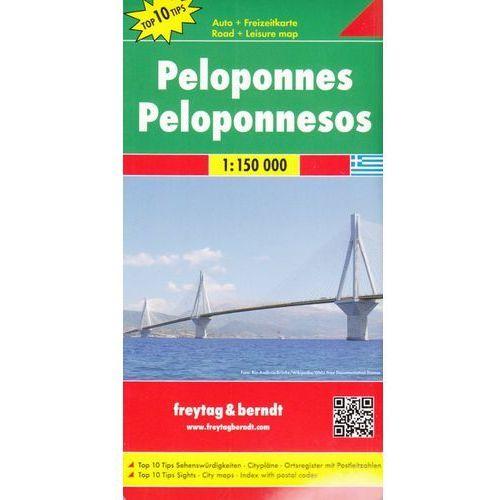 Peloponez / Półwysep Peloponeski 1:150 000. Mapa samochodowa, składana. Freytag&Berndt (2011)