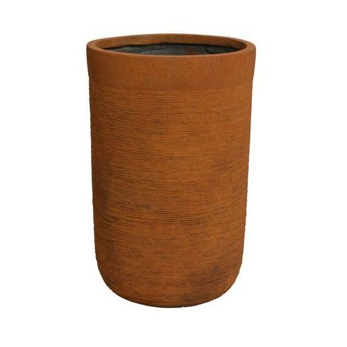 Donica okrągła 37 cm rdzawa z włókna szkalnego (8718532335249)