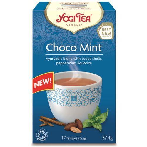 Herbatka ekspresowa choco mint z kakao i miętą bio (17 x 2,2 g) - marki Yogi tea