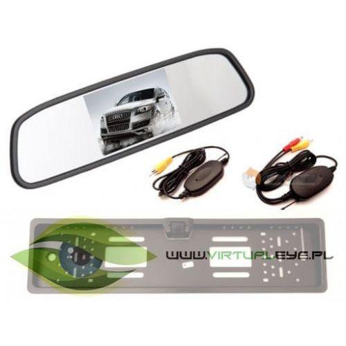 Virtualeye Bezprzewodowy zestaw kamera cofania + monitor w lusterku