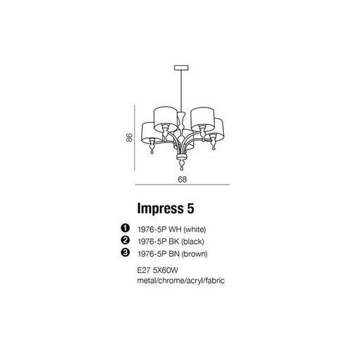 Lampa Impress 5 Black AZzardo (5901238404996)