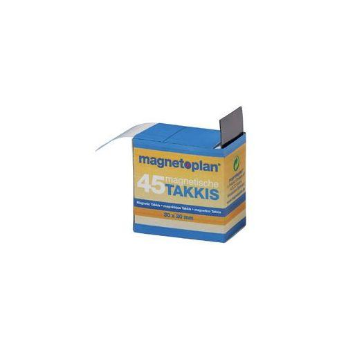 Taśma magnetyczna klejąca 20x30x0.75 mm 45szt (4013695030050)