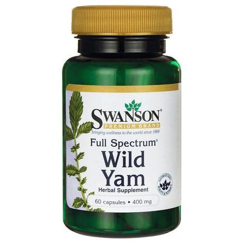 Swanson Dziki Pochrzyn (Wild Yam) 400 mg 60 kapsułek (0087614112589)