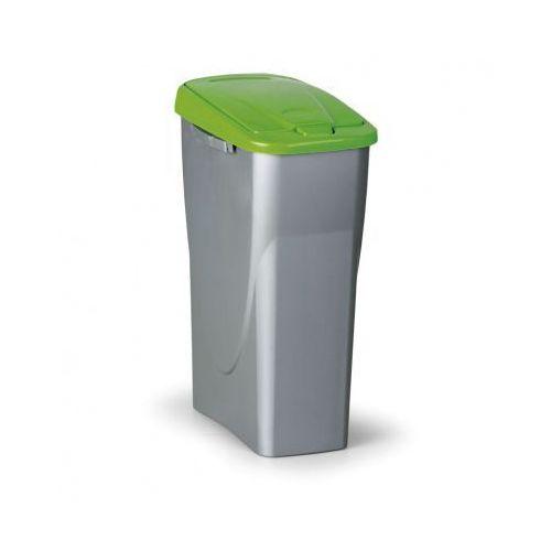 Kosz na odpadki, 25l, zielone wieko marki B2b partner