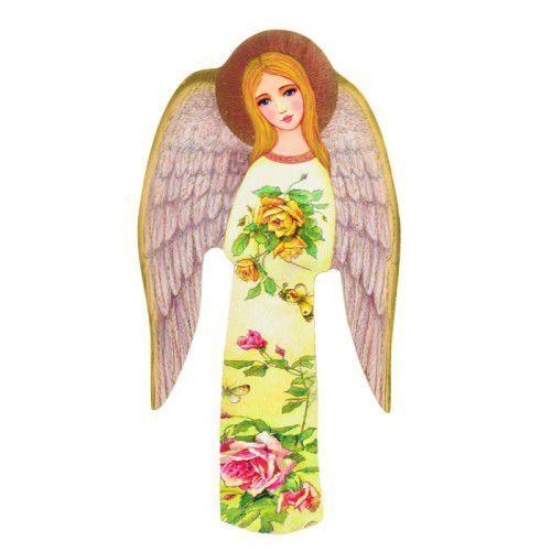 Ikona religijna Anioł Stróż w różach dla dziewczynki, URAW02