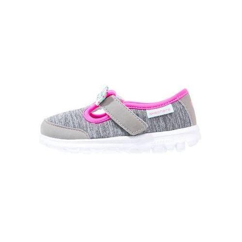 Skechers GO WALK BITTY BOW Baleriny z zapięciem grey/multicolor, kolor szary