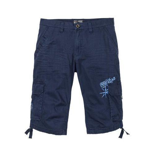 Bonprix Długie bermudy loose fit ciemnoniebieski