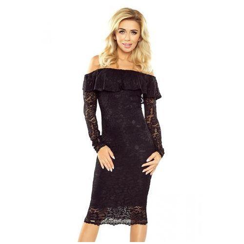 54ce23be57 Mm 021-1 sukienka koronkowa - hiszpanka z długim rękawkiem - czarna xl  marki Morimia 229
