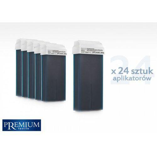 Zestaw gabinetowy wosk do depilacji azulene z szeroką rolką 80ml x 24 szt marki Premium textile