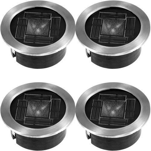 4 lampy solarne LED ziemne ze stali nierdzewnej - produkt dostępny w Centrum Dystrybucji i Logistyki MILLENNIUM