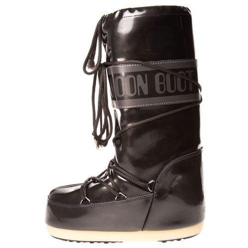 mb vinile metal śniegowce czarny 23-26 marki Moon boot