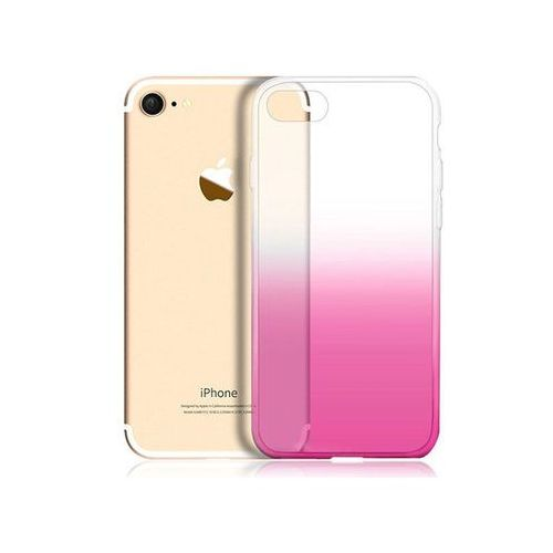 Alogy Etui ombre case apple iphone 7 / 8 różowe + szkło - różowy