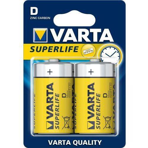 bateria cynkowo-węglowa Varta Superlife R20 D (blister), 2020101302