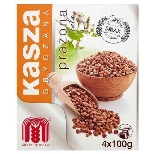 Młyny stoisław Kasza gryczana prażona cała 400 g (4 torebki) (5900563000552)