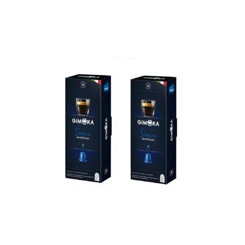 Gimoka Zestaw 2x soave decaffeinato nespresso włoska bezkofeinowa kawa w kapsułkach 10szt.