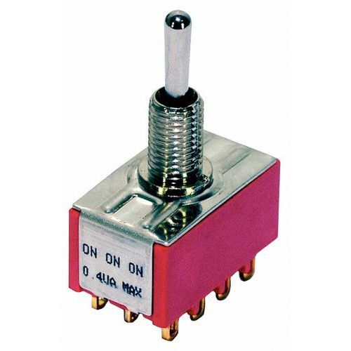 mini toggle switch chrome on - on - on 4pdt przełącznik gitarowy marki Mec