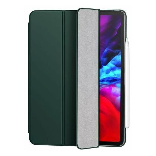 Baseus simplism magnetic leather   magnetyczne etui książkowe pokrowiec case stojak do ipad pro 11'' (2020)   zielony - zielony