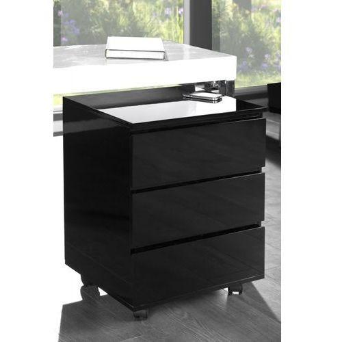 D2.design Szafka deal na kółkach czarna bez rączek (4250243532806)