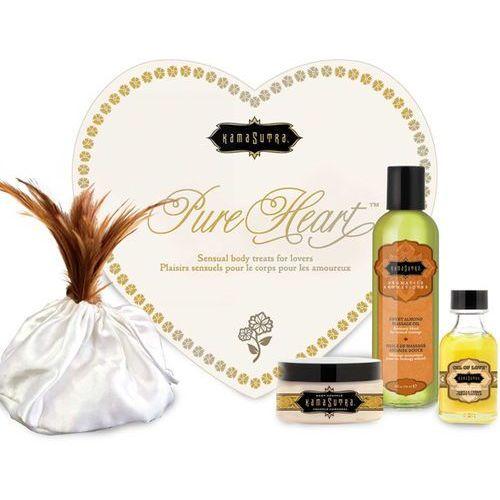 Zestaw olejków w sercu dla ukochanej / walentynki - kama sutra pure heart białe marki Kamasutra