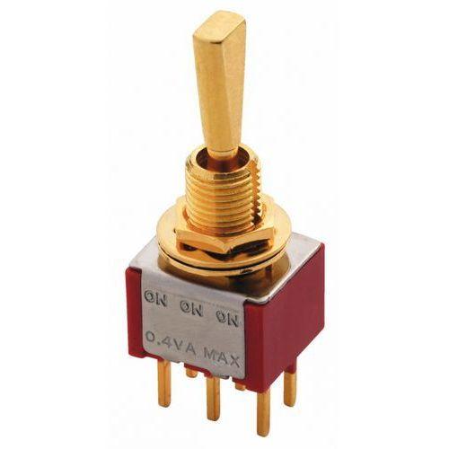 Mec mini toggle switch gold on-on-on dpdt flat toggle print lug przełącznik gitarowy