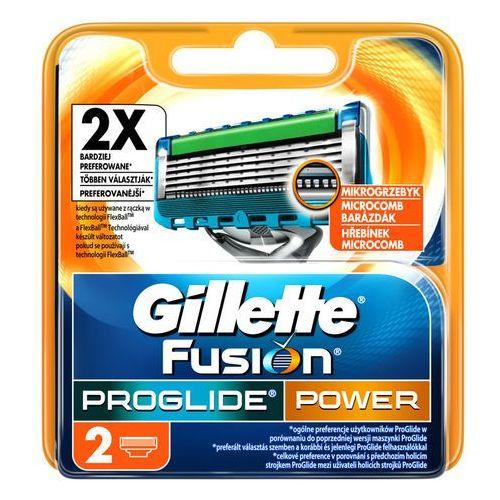 Gillette 2szt fusion pro glide power wkłady do maszynki do golenia (7702018085927)
