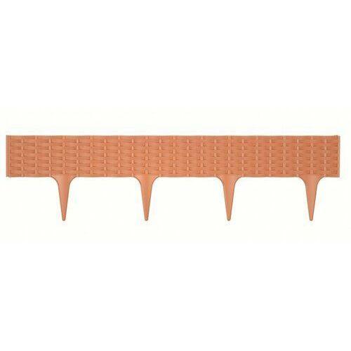 4-home Prosperplast obrzeże do trawy rattan terrakota, 390 cm (5905197962344)