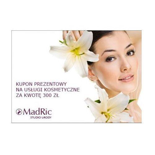 kupon prezentowy na usługi kosmetyczne za kwotę 300 zł. marki Madric