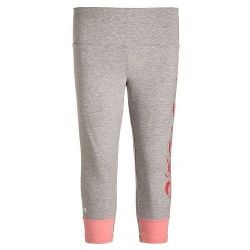 adidas Performance ATHLETICS Legginsy medium grey heather/ray pink - produkt z kategorii- Legginsy dla dzieci