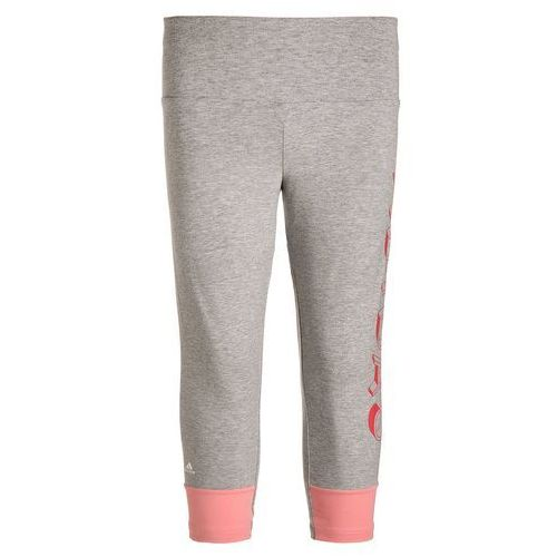 adidas Performance ATHLETICS Legginsy medium grey heather/ray pink