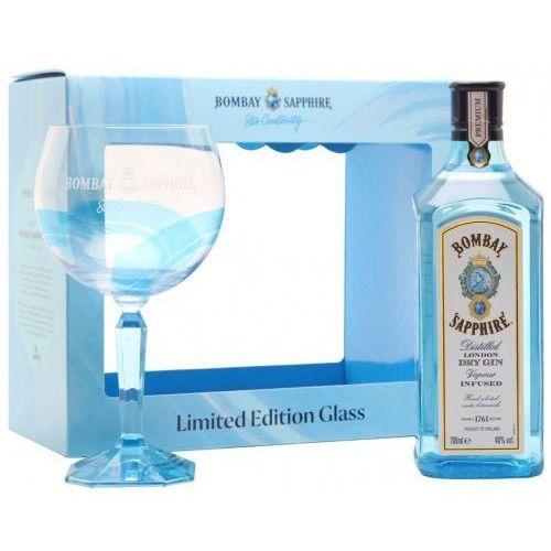 Gin Bombay Sapphire w zestawie z limitowaną edycją kieliszka 0.7l, 3010-70404