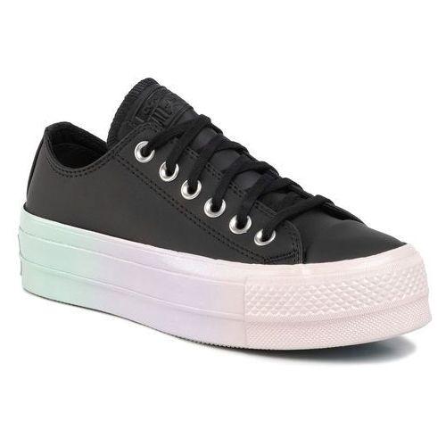 Trampki CONVERSE - Ctas Lift Ox 566157C Black/White/Polar Blue, kolor czarny