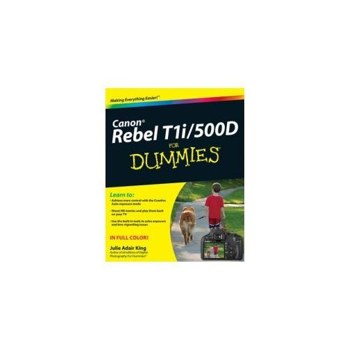 Canon EOS Rebel T1i/500D For Dummies, King, Julie Adair
