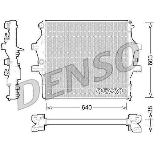 Chłodnica, układ chłodzenia silnika DENSO DRM12009, DRM12009