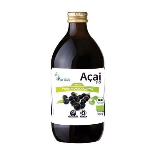 Dr gaja Organiczny 100% sok z jagód acai 500ml (5903111250102)