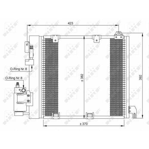 Skraplacz, klimatyzacja NRF 35302 (8718042021946)